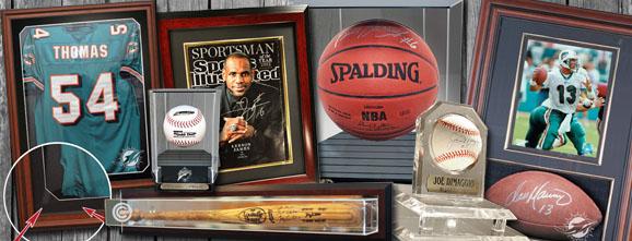 Sports Memorabilia Jersey Display Cases Autographed