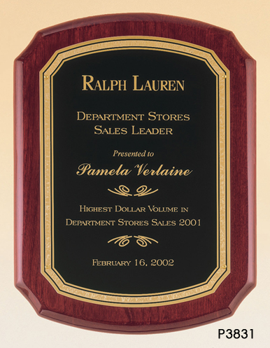 Rosewood Piano Plaque - P3831