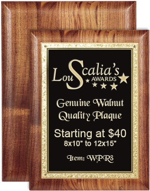 Walnut Plaque WPR8